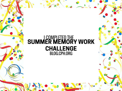 Celebrate! I completed the summer memory work challenge.