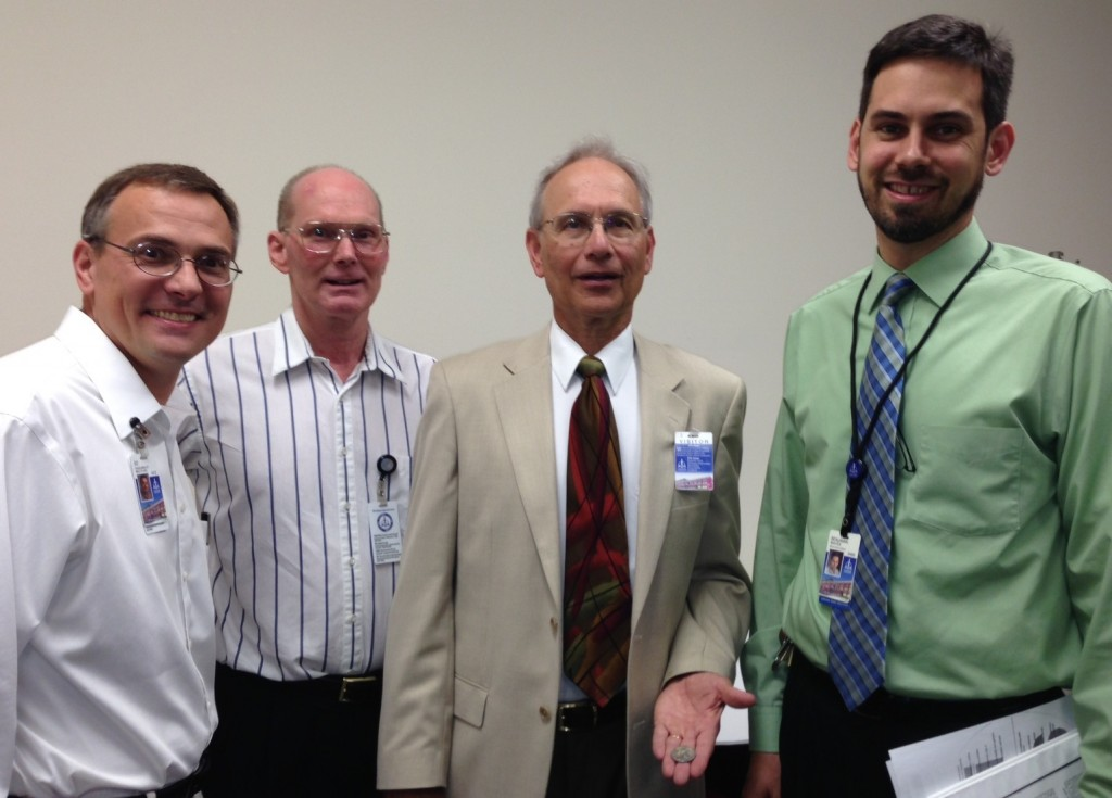 Pictured (from left to right) are CPH editors Rev. Edward Engelbrecht and Dr. Christopher Mitchell; Dr. Voelz; and CPH editor Dr. Benjamin Mayes.
