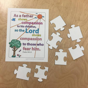 Sunday School puzzle craft