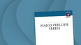 Cover of Piano Prelude Series Volume 6 featuring a blue swirled background