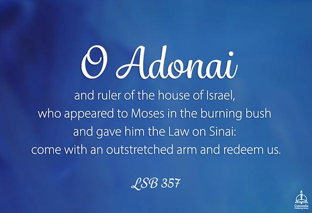 Image result for O Adonai antiphon