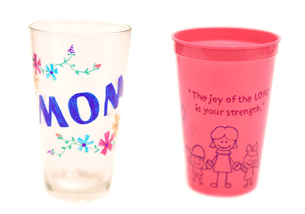 Mother's Day Crafts - Love You, Mom Water Cup